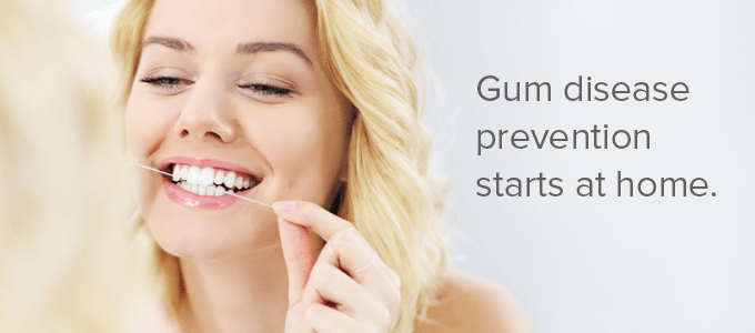 Gum disease prevention starts at home
