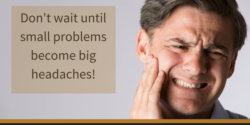 Comprehensive dentistry by Mukilteo dentist, Dr. Johnson prevents small problems from becoming big headaches.