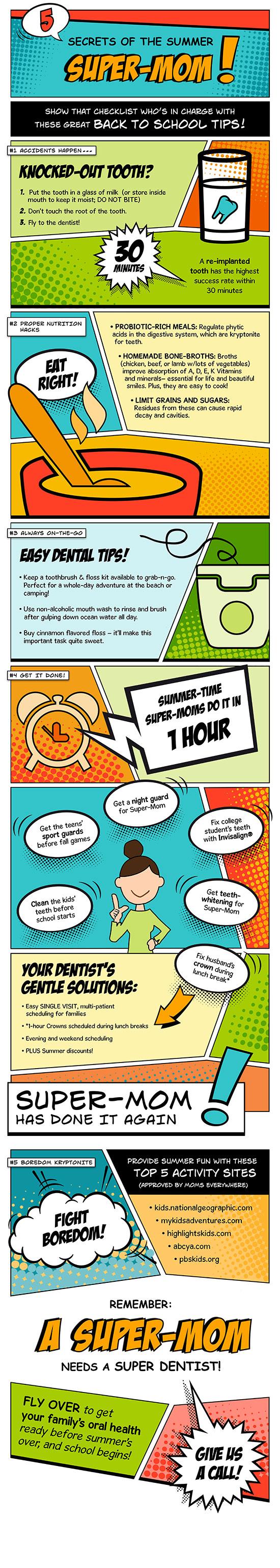 Secrets of a summer super mom infographic - Summer Tips for Moms